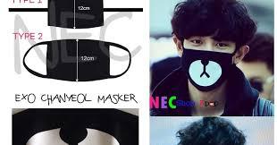 Masker Exo exo chanyeol masker nec shop kpop