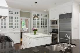 cabinet white transitional kitchen small white transitional