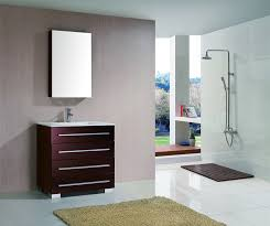 36 Inch Modern Bathroom Vanity Bathroom Bathroom Interior Small Bathrom Design With Glass