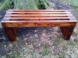 rustic wood bench ebay