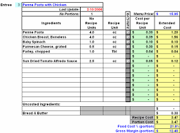 Restaurant Inventory Spreadsheet by Restaurant Inventory Recipe Costing Menu Profitability Workbook