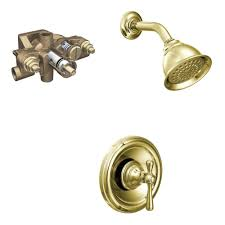 Brass Shower Faucets Moen Polished Brass Shower Faucet