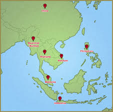 Singapore Map Asia by Ipsle Appointed Examination Centres Seab