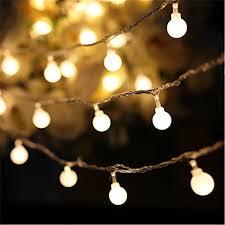 round bulb fairy lights fairy lights battery string lights shhe 10m 80 led 2 modes globe