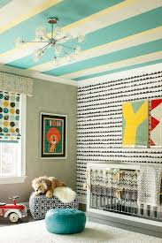Green Striped Wallpaper Living Room 20 Chic Nursery Ideas For Those Who Adore Striped Walls