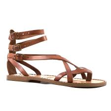 women u0027s strappy leather sandals handmade in italy in vintage cuir