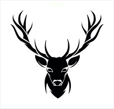 Stag Head Designs Stags Head Stencil For Walls Or Fabrics Available To Buy Online