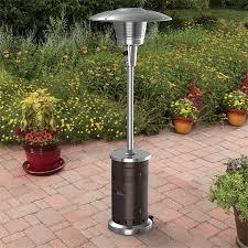 ebay patio heater garden treasures 47 000 btu mocha steel floorstanding liquid