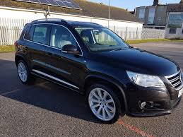 volkswagen tiguan black used 2010 volkswagen tiguan r line tdi 4motion full black leather