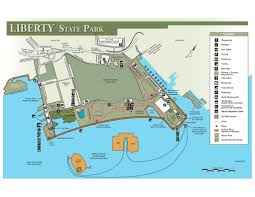 State Park Map by Liberty State Park Maplets