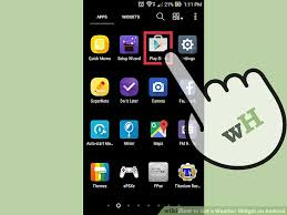 how to get on android how to get a weather widget on android 13 steps with pictures
