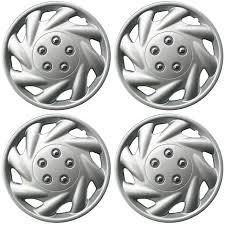 nissan versa wheel cover 4 piece set hub caps abs silver 15 u0026 034 inch for oem steel wheel