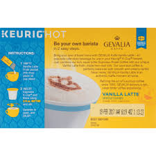 Decaf Pumpkin Spice Latte K Cups by Gevalia Vanilla Latte Espresso Coffee K Cup Pods U0026 Froth Packets
