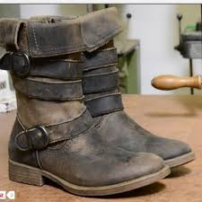womens boots distressed leather outstanding glaye rustic distressed leather zipper adjustable
