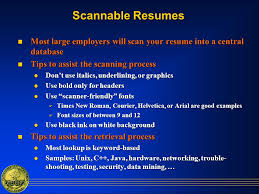 Scan Resume Resume Preparation And Interviewing Tips Ppt Download