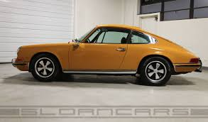 porsche signal yellow 1969 porsche 911s coupe bahama yellow restored sloan cars