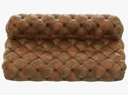 Leather Chair Restoration Restoration Hardware Soho Tufted Leather Armless Sofa 3d Model Max