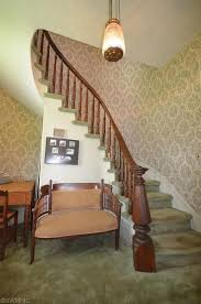Banister Research Traditional Staircase With High Ceiling U0026 Carved Wood Banister In