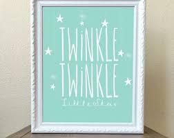 Twinkle Little Star Nursery Decor Little Star Nursery Etsy