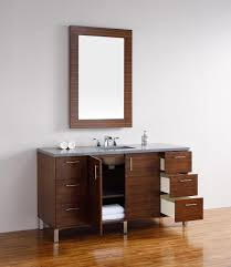 abstron 60 inch walnut finish single sink modern bathroom vanity