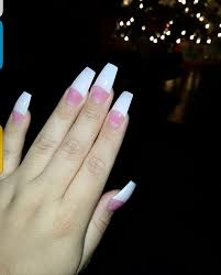 love my nails french tip coffin shaped nails always doing