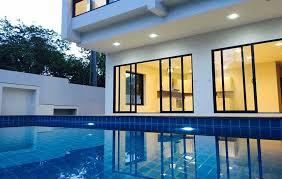 chambre avec piscine villas 3 chambres avec piscine privée à plai laem koh samui immobilier