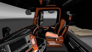 orange mercedes mercedes benz mp4 orange wood interior mod ets2 euro truck