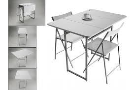 table de cuisine pliante avec chaises table pliante et 2 chaises blanches en bois kingston table à