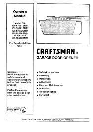 sears garage door opener installation craftsman garage door opener 139 53677srt1 user guide