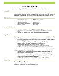outside sales resume exles outside sales resume sales representative acounting finance resume
