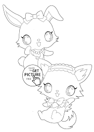 funny pets jewelpet characters coloring pages kids