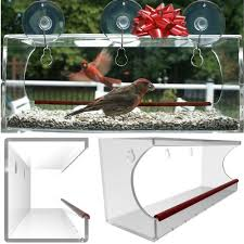 acrylic home design inc amazon com large window bird feeder see through clear acrylic