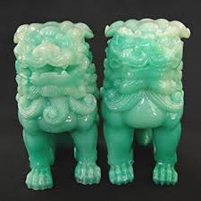 green foo dogs green foo dogs statues fu dog statues home kitchen