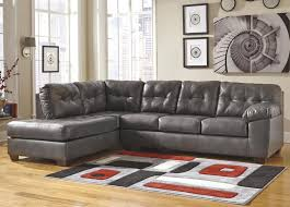 gray sectional with ottoman signature design by ashley alliston durablend gray sectional w