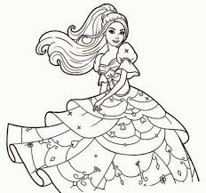 coloring page magnificent barbie drawing pics cartoon fairy
