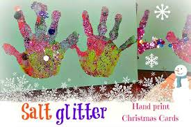 salt glitter handprint christmas cards from blog me mom