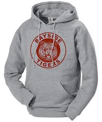 saved by the bell bayside tigers hooded sweatshirt
