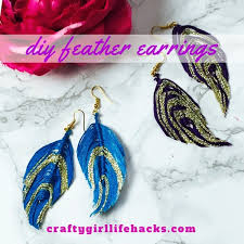 how to make feather earrings diy cruelty free embroidery feather earrings craftygirllifehacks