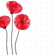 three abstract red poppies vector clipart image 22691 u2013 rfclipart