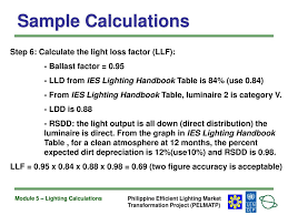 ies lighting handbook recommended light levels module 5 lighting calculations ppt download