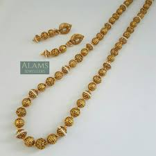 long gold ball necklace images Long ball necklace with earrings indian jewellery jewelry 36 jpg