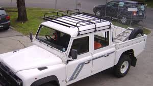land rover 110 truck land rover defender 130 roof racks