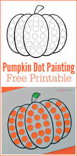 pumpkin do a dot worksheet pom poms worksheets and free printable