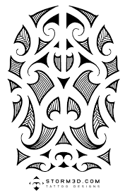 maori samoan and polynesian inspired tattoo designs hand drawn