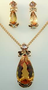 topaz stone necklace images Harbor jewelers gold jewelry example work jpg