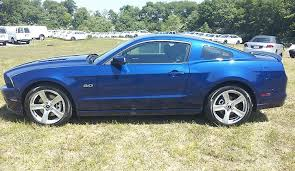 2013 mustang gt blue impact blue 2013 ford mustang gt coupe mustangattitude com