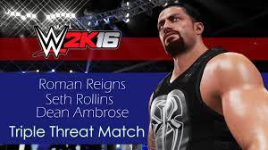 wwe 2k16 ps4 british bulldog vs x pac vs rikishi full match wwe 2k16 shield triple threat roman reigns vs dean ambrose vs