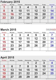 april 2015 calendars for word excel u0026 pdf