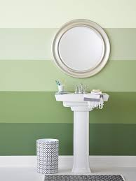 Ideas For Painting Bathroom Walls Painting Ombré Stripes On A Wall Hgtv