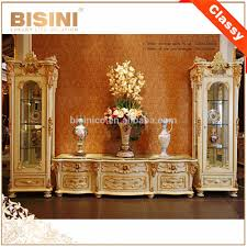 Tv Set Furniture Classic French Rococo Style Goldleaf Single Door Display Cabinet With Tv